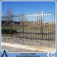 Rail 40*40mm square *1.6mm wall thickness spear tops steel pool fencing