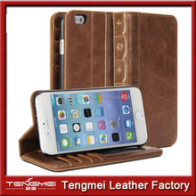 Card Holder Leather Wallet Book Case For iPhone 6,For Apple Iphone 6 Case