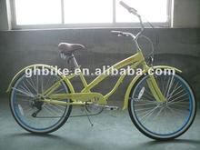beach bicycle women bicycles bycicle 6 speed ladies cruiser bikes yellow beach cruiser bike