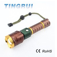 Adjustable Best Convex High Power Hunting Rechargeable LED Flashlight Torch
