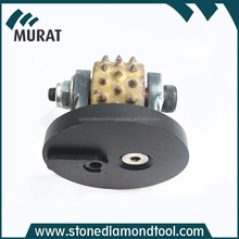 Durable Rotary Bush Hammer Rollers 45 Spikes For Stone Grinding