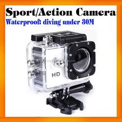 120 Degree 720P SJ4000 Waterproof Helmet action camera