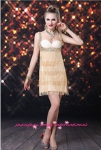 European and American fashion fringed dress party skirts ballroom dress Latin dance dress