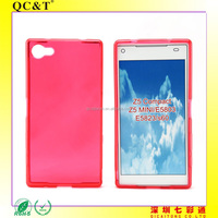 Free Sample Muti-Colors Soft TPU Without Texture Case for Sony Z5 Compact Z5 MINI E5803
