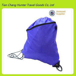 Hot sale cheap wholesale nylon waterproof drawstring backpack