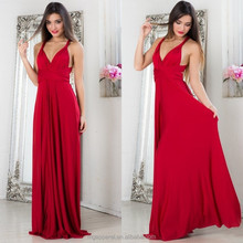 girls floor length dresses red backless maxi dress china