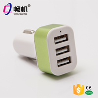 Wholesale Double Speed Fast Charge Output DC 5V 2.1A Universal Portable 3 Port Micro USB Car Charger For OEM Factory