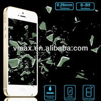 0.26mm Tempered glass water proof screen protector for iPhone 5 5c 5s (Glass Shield)