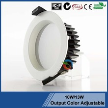SAA approval led downlight 3000K White /Nickel/ Chrome brushed 83 cutout led downlight 10W 12W