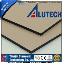 Alutech Easy Constructed 4mm 0.50mm Red Mud PE coating Aluminum Plastic Board