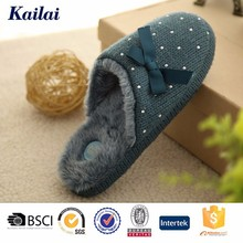 2015 top quality bowknot mules dearfoam kito slippers