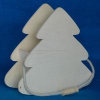 New custom beautiful designs wooden box wood christmas tree shaped pen holder
