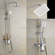 Contemporay chrome plating brass bath&shower faucet set with 304 s.s 8inch nickel brushed rain shower head