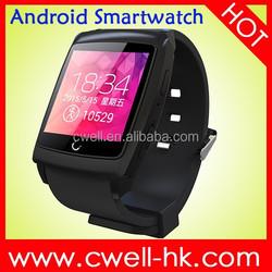 Android SmartWatch U18 WIFI/GPS MTK6571 Dual Core Predometer/Anti-Lost/Sport Tracking/Sleep Monitor
