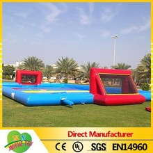 Giant inflatable football field,inflatable football pitch,inflatable soap soccer field