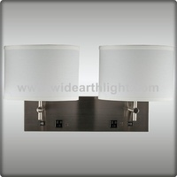 UL Approved Two Power Outlets Hotel Wall Lamp ( W20245)