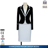 China boshi factory custom type formal office dresses for women with blazer