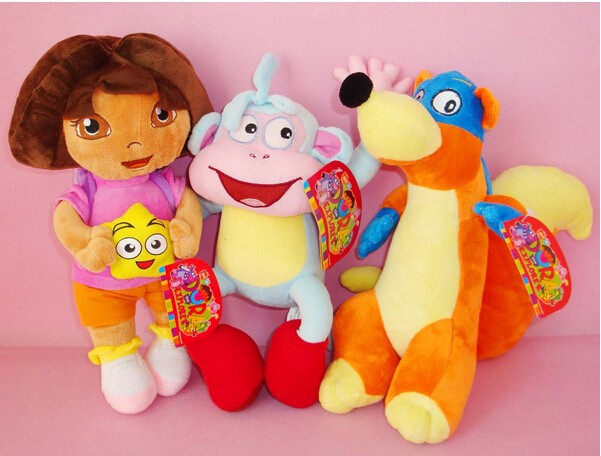 Детская плюшевая игрушка Brand New 3 /32cmdora + 32cmBoots + 32cmFox 001