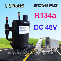 electric refrigerator vehicle dc 48v compressor JVB058Z48 rotary type for transportation refrigeration tricycle