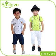 2015 latest best deal on European kids clothing boys cheap polo t shirt