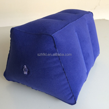 new design portable trapezoid inflatable airplane foot rest cushion