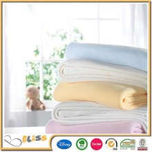 High Quality Famous Brand In Cooperation Baby Blanket With Satin Trim