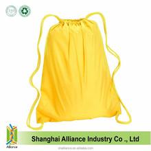 Yellow Color Waterproof Durable Liberty Bags Large Nylon Drawstring Backpack