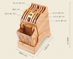 Bamboo new blast kitchen cabinet knife block,bamboo knife block,knife holder