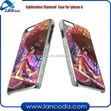 stylish sublimation rhinestone case for iphone6 4.7 inch,crystal sublimation mobile phone cover,personalized custom print case