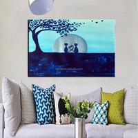 2015 New Item Handmade Happiness Wedding Room Decor Oil Painting On Canvas