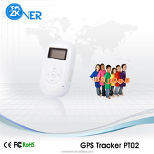 Mini personal gps tracker PT02 to protect child/old/disabled/pet