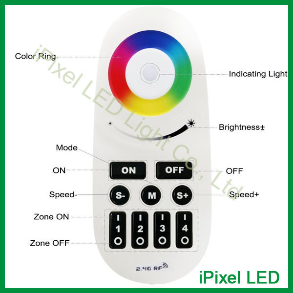 Milight Wifi RGBW led strip controller 2.4G 12 /24V 4 zone touch Dimmer rf rgb led controller