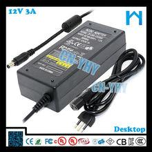 Desktop Adapter 12v 3a /12v power supply for Dvd Player