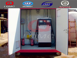 Hot sale mobile gasoline station/gas storage containers made by luqiang
