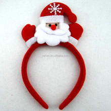 Party decoration christmas head hoop with snowman head decoration