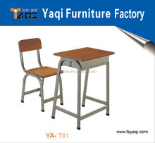 Metal frame commercial cheap price student desk and chair student desk YA-T01