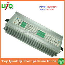 1500ma constant current 12v dc 24v dc 70W IP67 waterproof led driver for outdoor led light