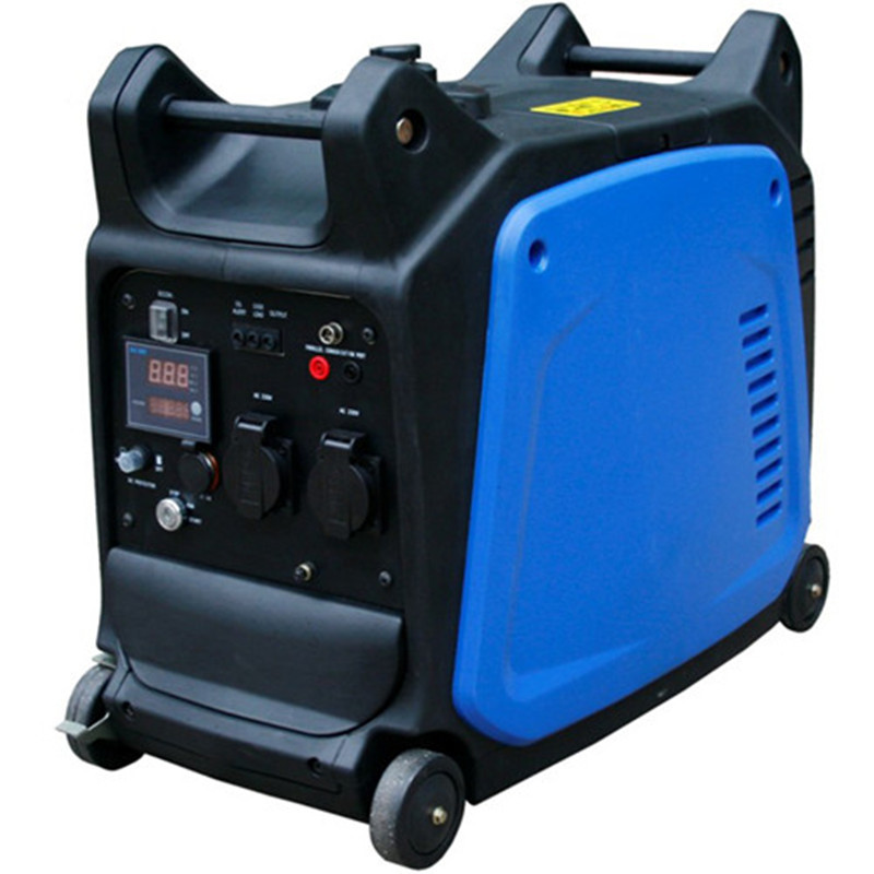 Small Electric Generator : Air cooled mini electric start generator gas operated