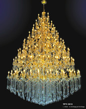 2015 five star hotel large crystal pendant lamp with chandelier lighting