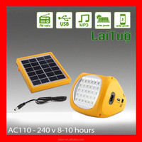 radio usb small portable led solar panel charge emergency camping lights