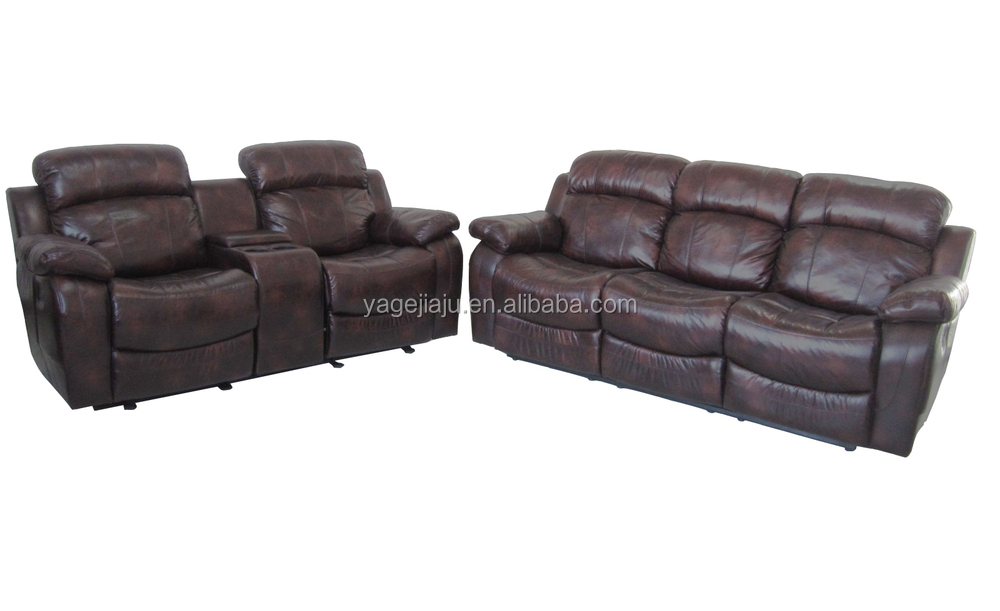 Modern design hot selling lazy boy leather recliner sofa Leather lazy boy sofa