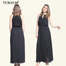 Venta al por mayor fabricante de ropa de noche elegante de los vestidos, gasa vestidos maxis