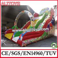 EN14960 new pvc commercial inflatable slider for kids