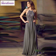 Pictures Semi Formal Dresses Women Prom Gowns Backless Grey Formal Dresses