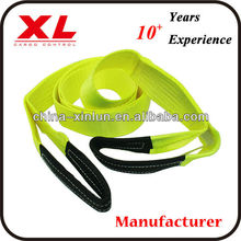 Tow Straps with protective eye sleeves