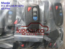 Control remoto de 4 botones 433.9 Mhz GOH-PCGEN2 para Mazda llave de entrada