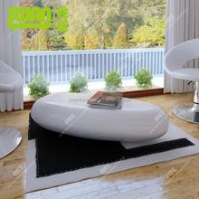 3093 white stone shape coffee table