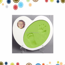 High quality baby desktop frame baby handprint and footprint clay kit