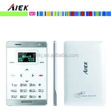 ultra thin original Aiek M3 pocket mobile phone with Arabic keyboard