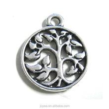 Hotsale snap charm round charm jewelry accessory sapling charm